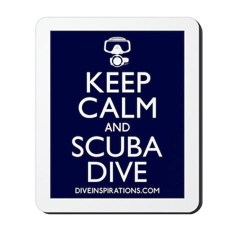 Keep Calm Scuba Dive Mousepad