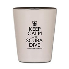 Keep Calm Scuba Dive Shot Glass