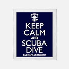 Keep Calm Scuba Dive Throw Blanket