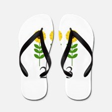 Personalizable Sunflowers Flip Flops