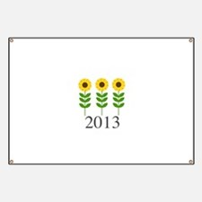 Personalizable Sunflowers Banner
