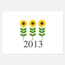 Personalizable Sunflowers Flat Cards