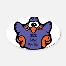 cluck-eating-disorders.png Oval Car Magnet