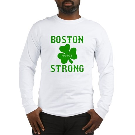 Boston Strong - Green Long Sleeve T-Shirt