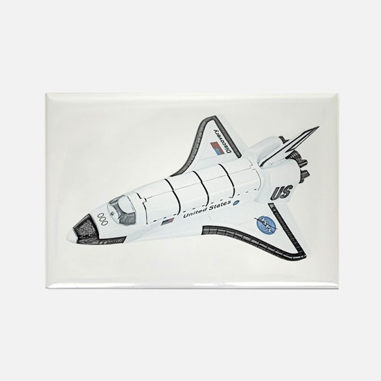 Space Shuttle Rectangle Magnet