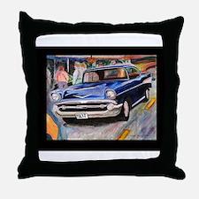 57 Chevrolet Bel Air Throw Pillow