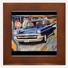 57 Chevrolet Bel Air Framed Tile