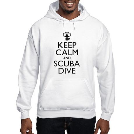 Keep Calm Scuba Dive Hooded Sweatshirt