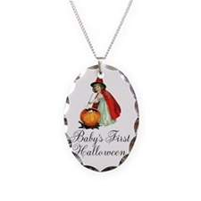Babys First Halloween Vintage Witch Necklace