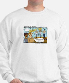 A Touch of Humor Arm Wrestling Comic Sweatshirt