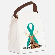 buck-anxiety-disorder.png Canvas Lunch Bag