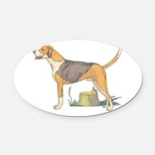american-foxhound.png Oval Car Magnet