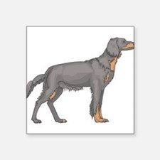 """black-and-tan-coonhound..png Square Sticker 3"""" x 3"""