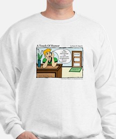 A Touch of Humor Chair Massage Comic Sweatshirt