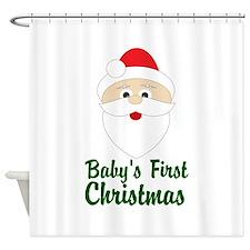 BabyFirst Christmas Santa Shower Curtain