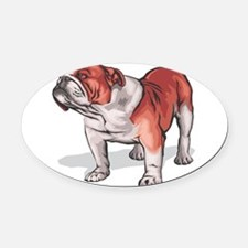 english bulldog1.png Oval Car Magnet
