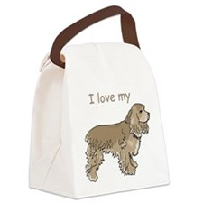 cocker-spaniel,i-love-my,pn.png Canvas Lunch Bag