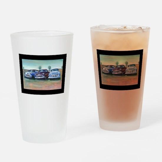 Three old friends Drinking Glass