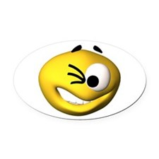 c-winky.png Oval Car Magnet