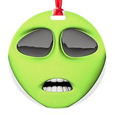 green-scaredy-cat-alien.png Ornament