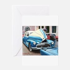 Trouble on Main Street Greeting Card