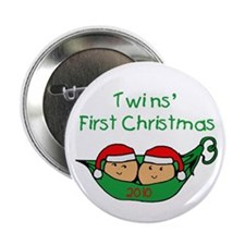 Pod Twins First Christmas Button