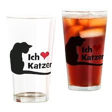 Ich liebe Katzen Drinking Glass
