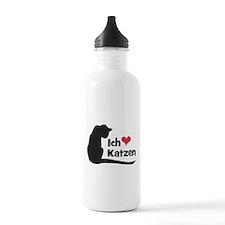 Ich liebe Katzen Water Bottle