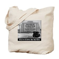 I Love Drive-In Movies Tote Bag