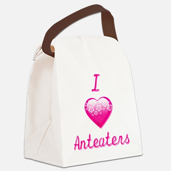 I Love/Heart Anteaters Canvas Lunch Bag