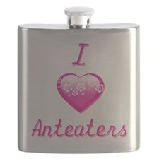 I Love/Heart Anteaters Flask