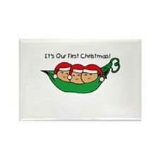Pod Triplets First Christmas Rectangle Magnet