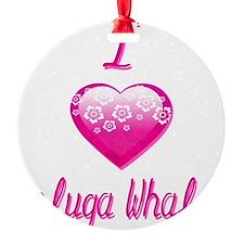 I Love/Heart Beluga Whales Ornament