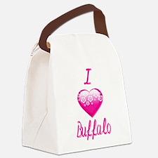 I Love/Heart Buffalo Canvas Lunch Bag