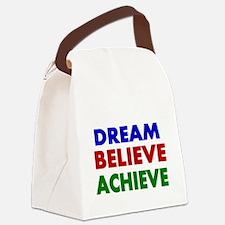 Dream Believe Achieve Canvas Lunch Bag