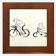 Father and Son Framed Tile