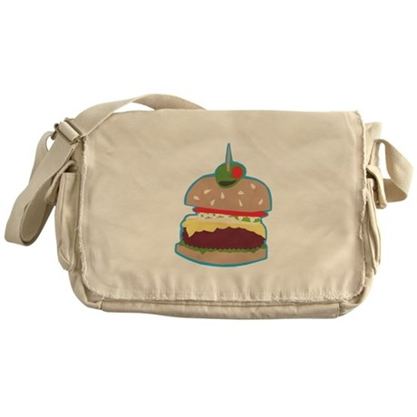 Hamburger Paper Collage Messenger Bag