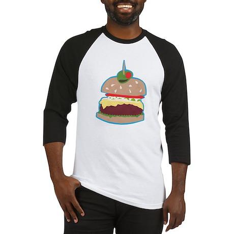 Hamburger Paper Collage Baseball Jersey