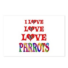 Love Parrots Postcards (Package of 8)