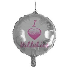 I Love/Heart Wallabies Balloon