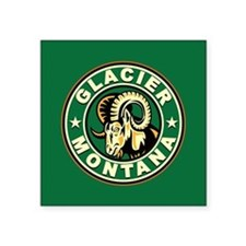 "Glacier Ram Vintage Square Sticker 3"" x 3"""
