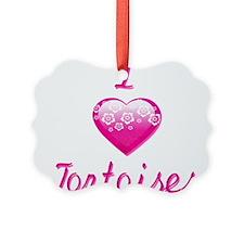 I Love/Heart Tortoises Ornament