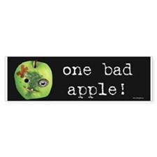 One Bad Apple Bumper Bumper Sticker