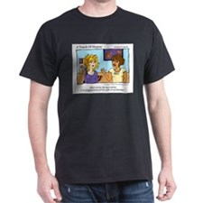 """A Touch of Humor"" Free Hair Styling Comic T-Shirt"
