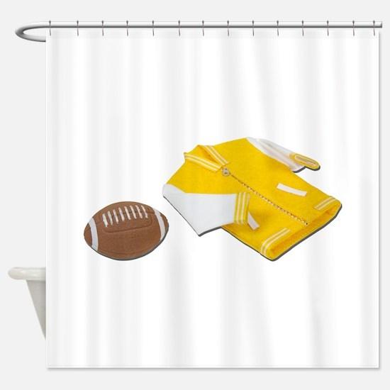 FootBallLettermanJacket111811.png Shower Curtain