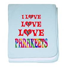 Love Love Parakeets baby blanket