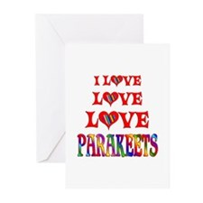 Love Love Parakeets Greeting Cards (Pk of 20)