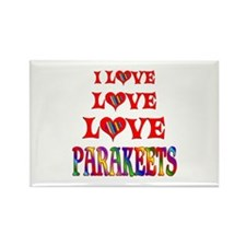 Love Love Parakeets Rectangle Magnet
