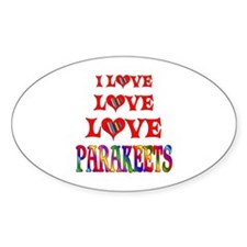 Love Love Parakeets Decal