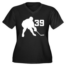 Hockey Player Number 39 Women's Plus Size V-Neck D